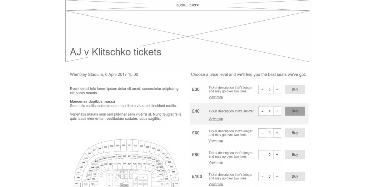 matchroom boxing price point page ux 2